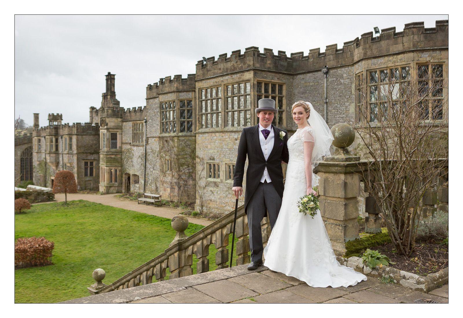 asian wedding photography east midlands%0A Haddon Hall  Bakewell  Derbyshire  Winter wedding  Gardens still beautiful   A very