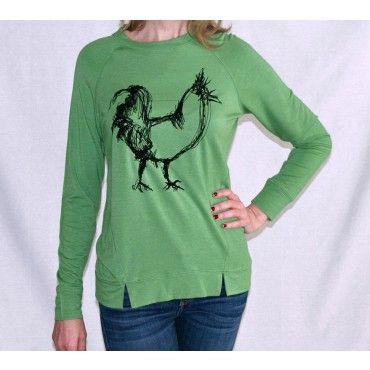 Print French Terry Sweatshirt by Kensie