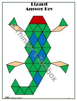 Pattern Blocks Reptiles And Amphibian Puzzles Pattern Blocks