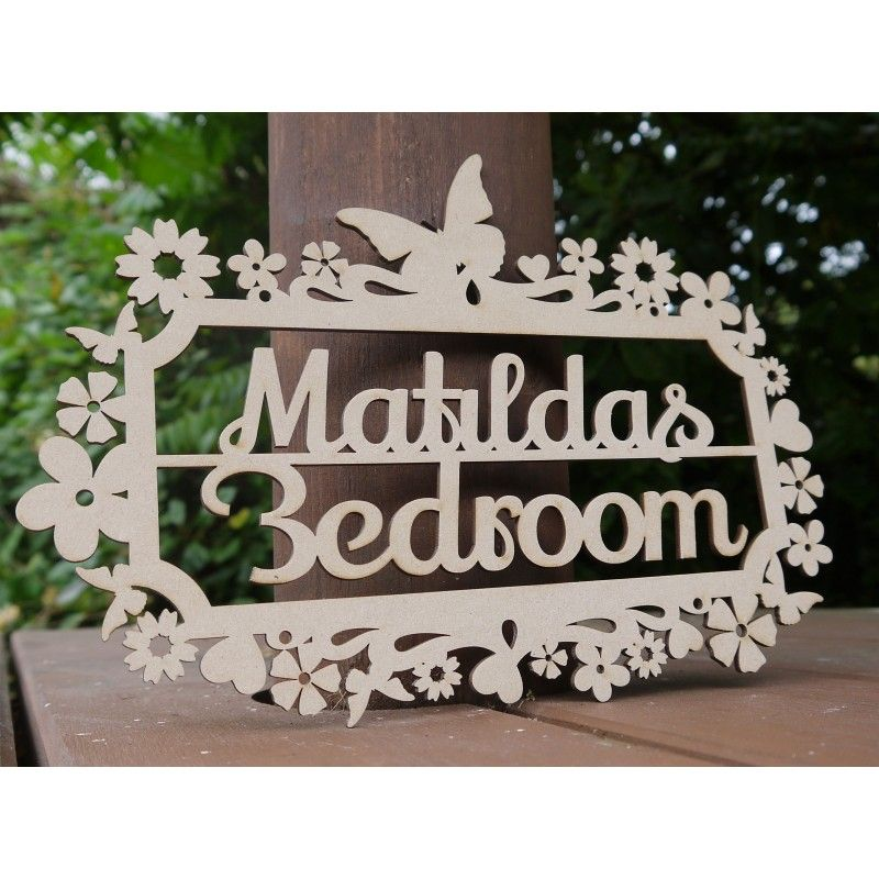 personalised children s bedroom door sign plaque butterfly rh pinterest com