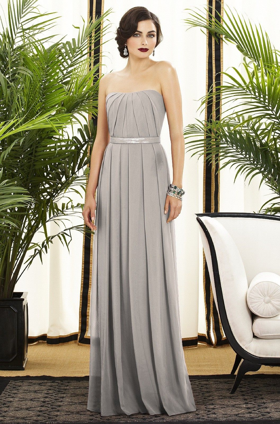 Long Light Grey Bridesmaid Dresses by Color