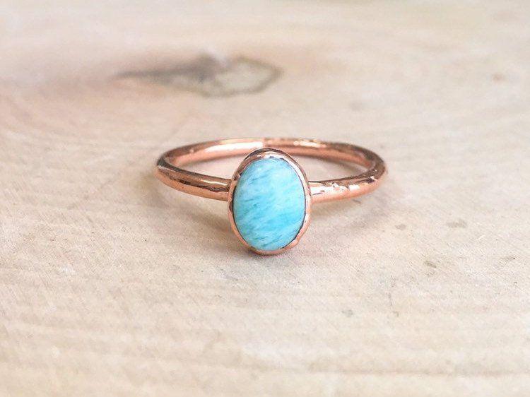 Amazonite Crystal Ring