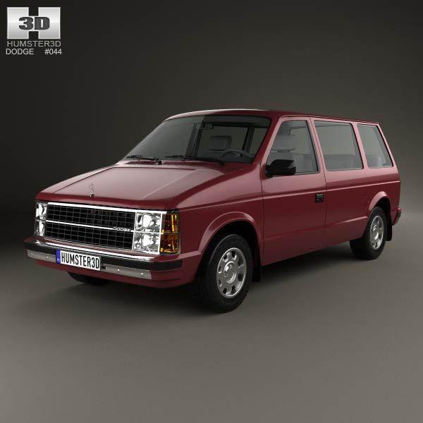 dodge caravan 1984 3d model from humster3d com price 75 dodge rh pinterest com