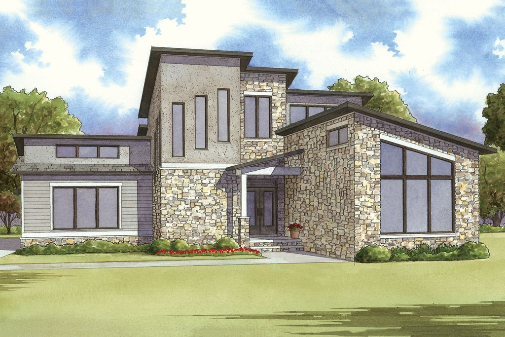 Mediterranean House Plan Front of Home for