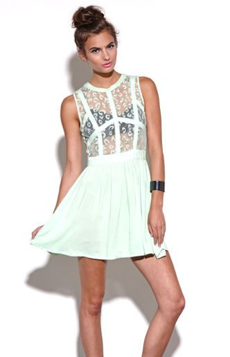 Fit N Flare Lace Dress