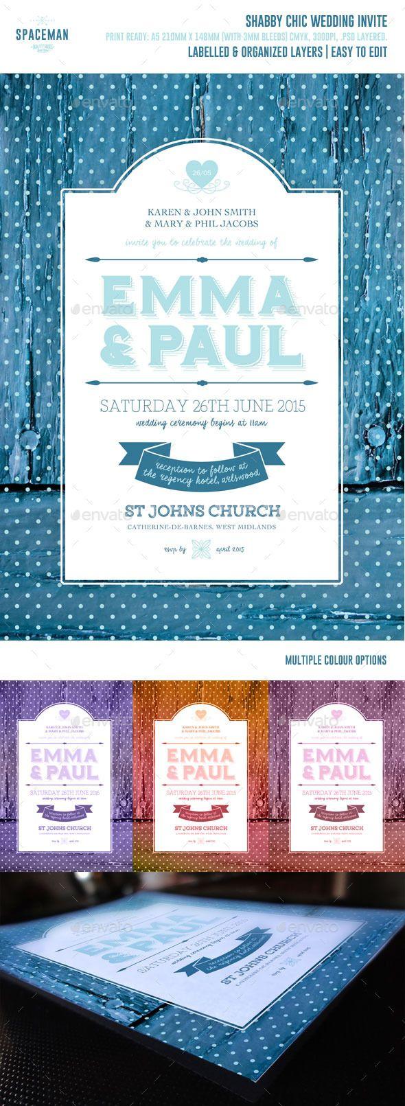 Shabby Chic Wedding Invite Shabby Chic Wedding