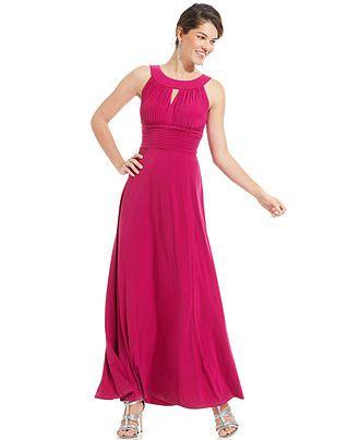 d59d362b210 Sangria Sleeveless Keyhole Gown - Dresses - Women - Macy s