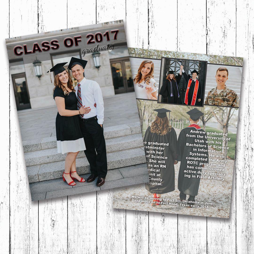 Graduation Announcement for 2!