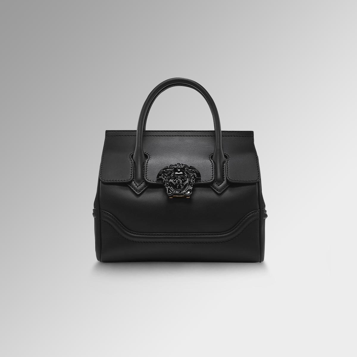 Versace Palazzo Empire bag in black leather.   Versace Palazzo ...