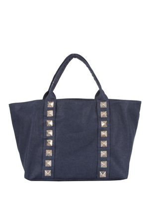 studded canvas tote bag