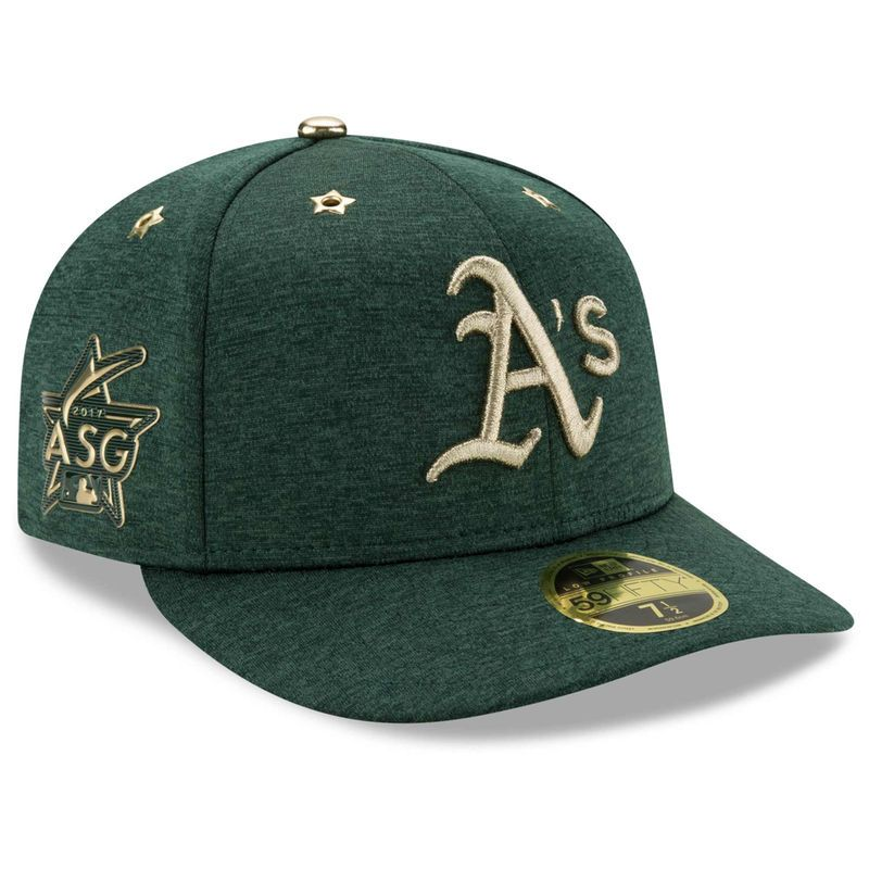 10bd4f5c795 Oakland Athletics New Era 2017 MLB All-Star Game Side Patch Low Profile  59FIFTY Fitted Hat - Heathered Green
