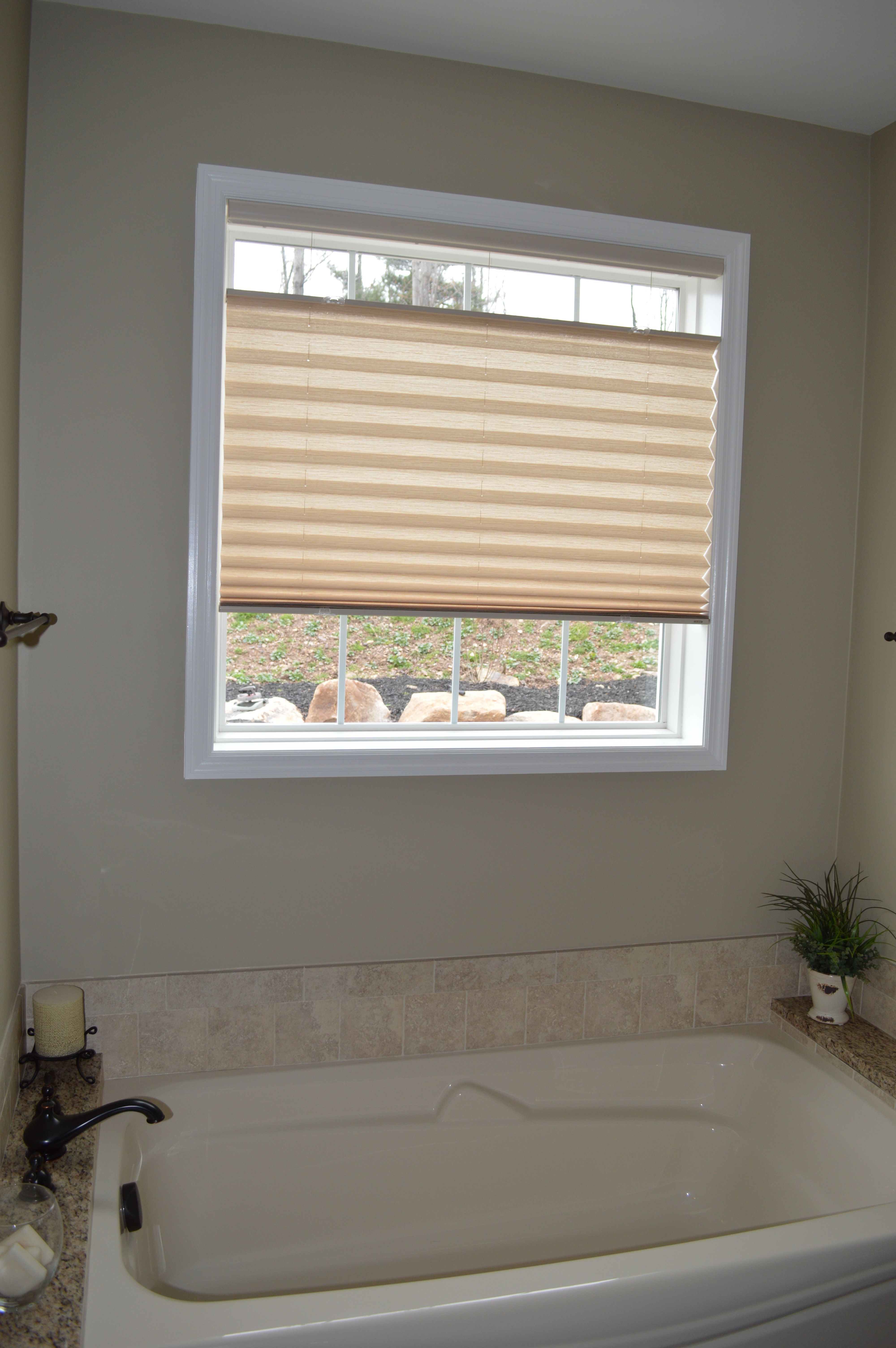 top down bottom up shade over bath tub to control privacy learn rh pinterest com