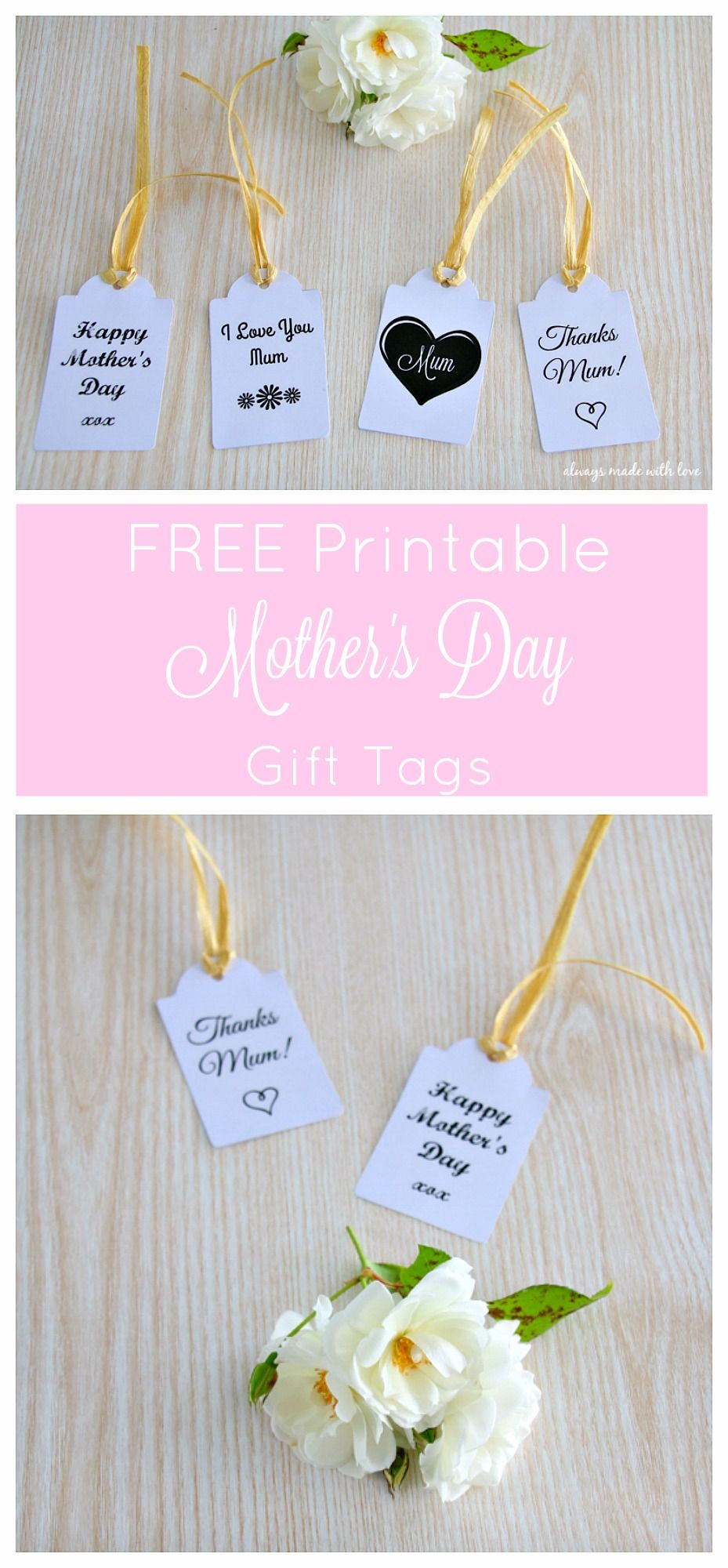 free printable wedding thank you cards with photo%0A Mother u    s Day Gift Tags  FREE Printable