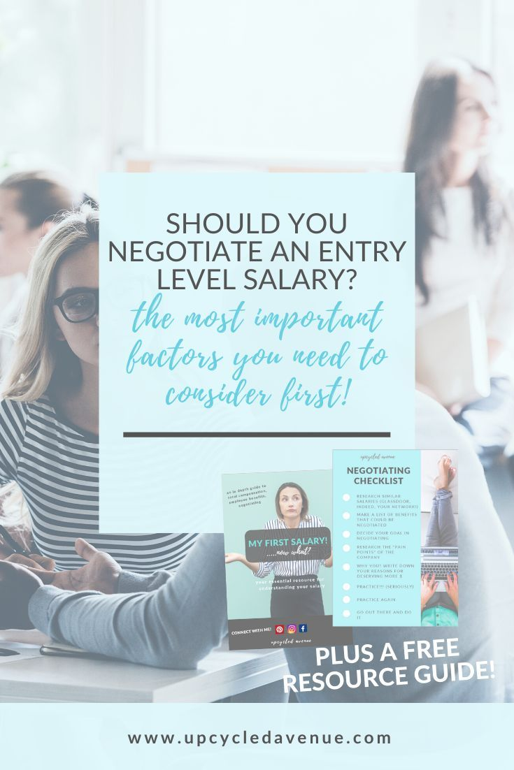 Should you negotiate an entry level salary these are the