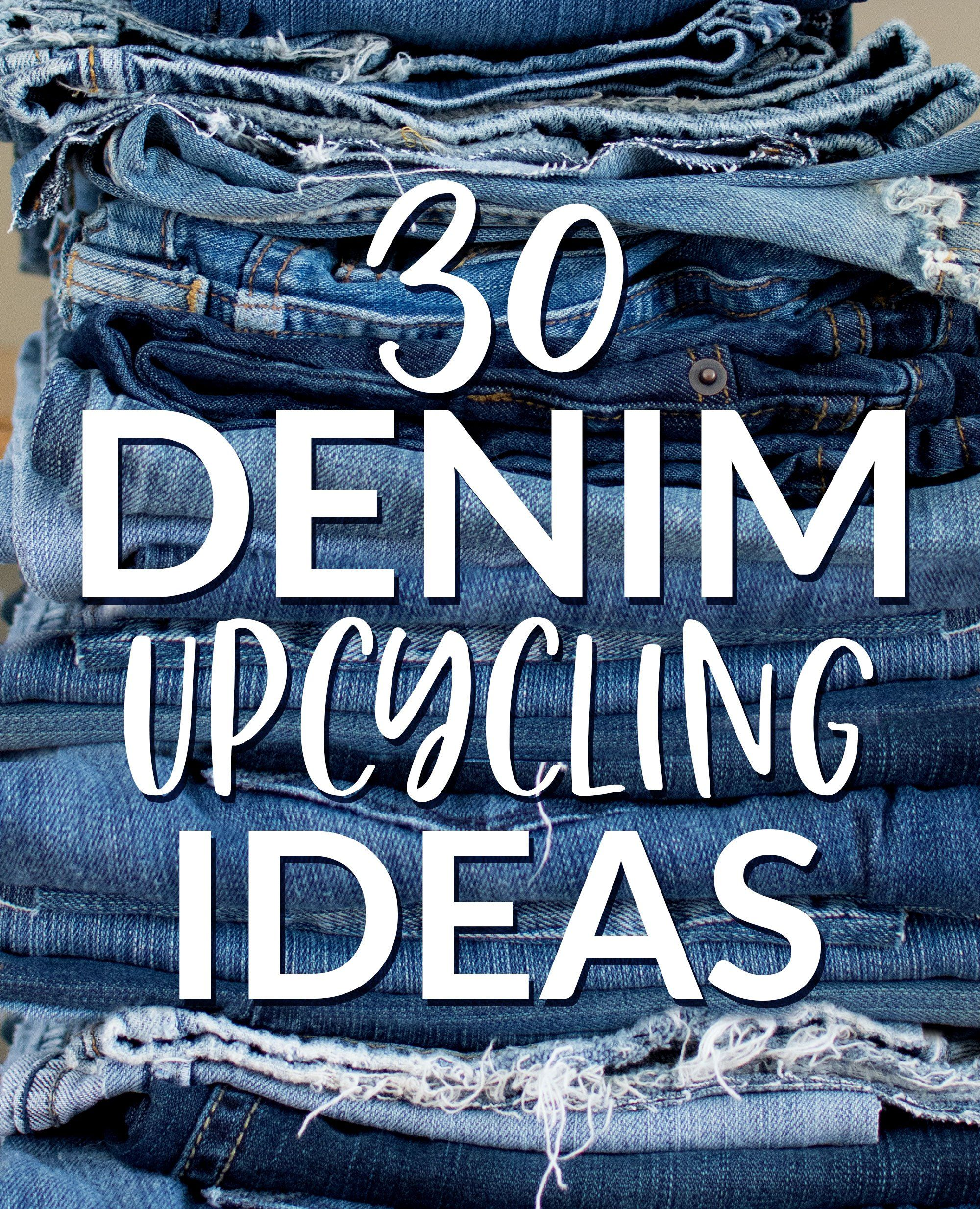30 Denim Upcycling Ideas Using Old Jeans | Denim scraps