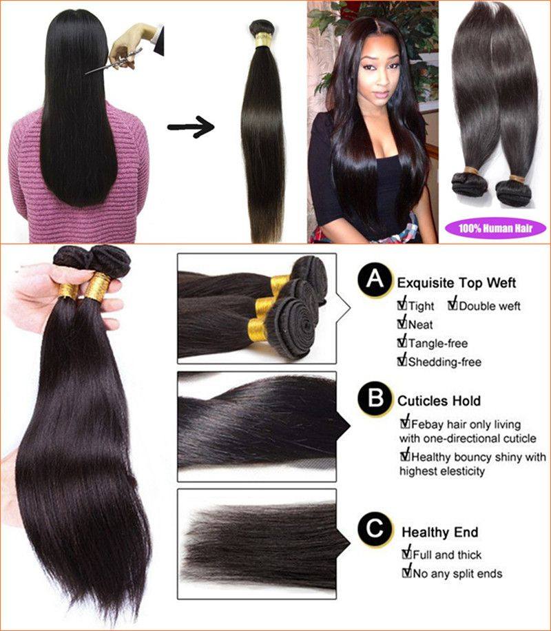 For Human Hair Process Such As Silk Straight Wave Hair Weft It Is