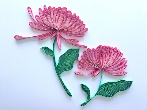 Timelapse Of Beautiful Floral Quilling Project On Edge