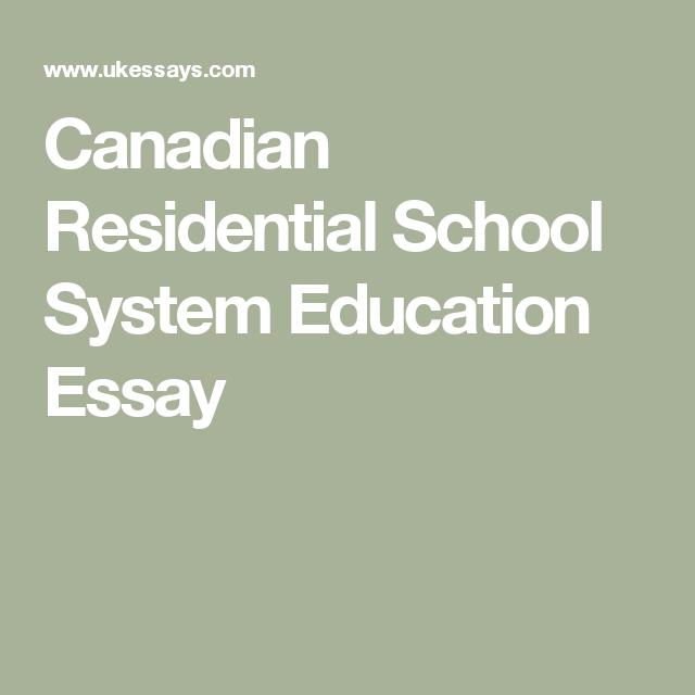 Residential schools essay