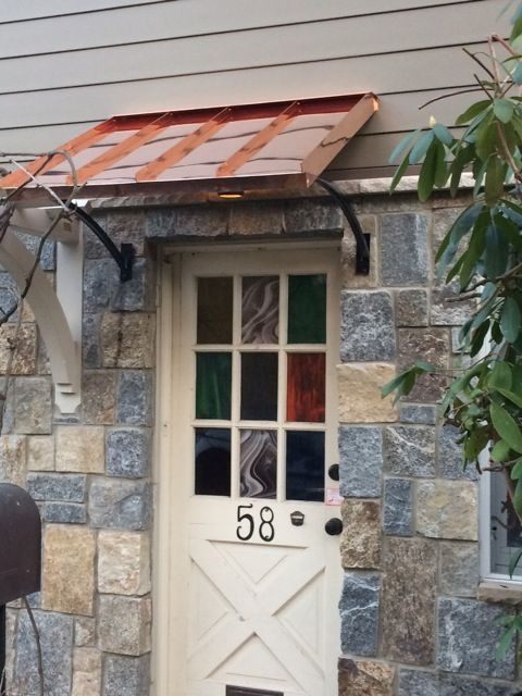 Classic Copper Door Awning In Northport Ny Door Awnings Copper Awning Custom Awnings
