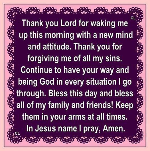 Thank You Lord For Waking Me Up This Morning Inspirational Prayers Morning Prayers Good Morning Prayer