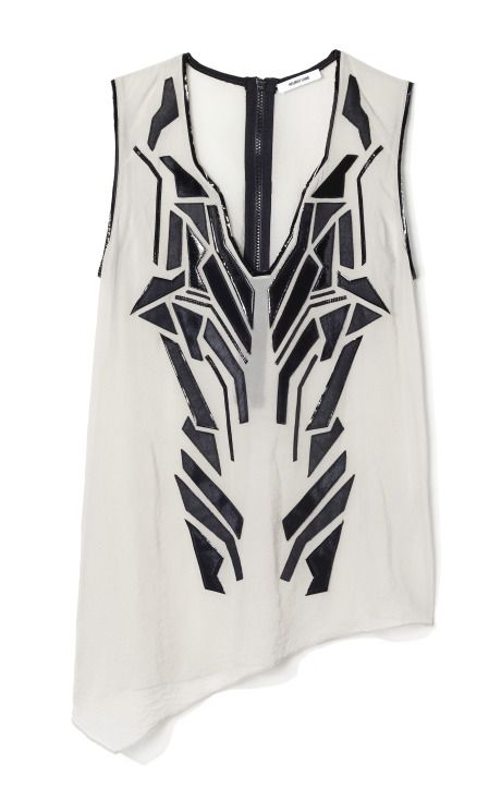 Perfect//Helmut Lang Lyra Appliqué Blouse  i like it because it reminds me of Transformers