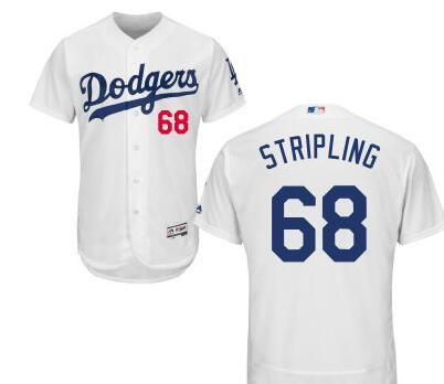 137eb865dfc Los Angeles Dodgers  68 Ross Stripling White Home Stitched Baseball Jersey