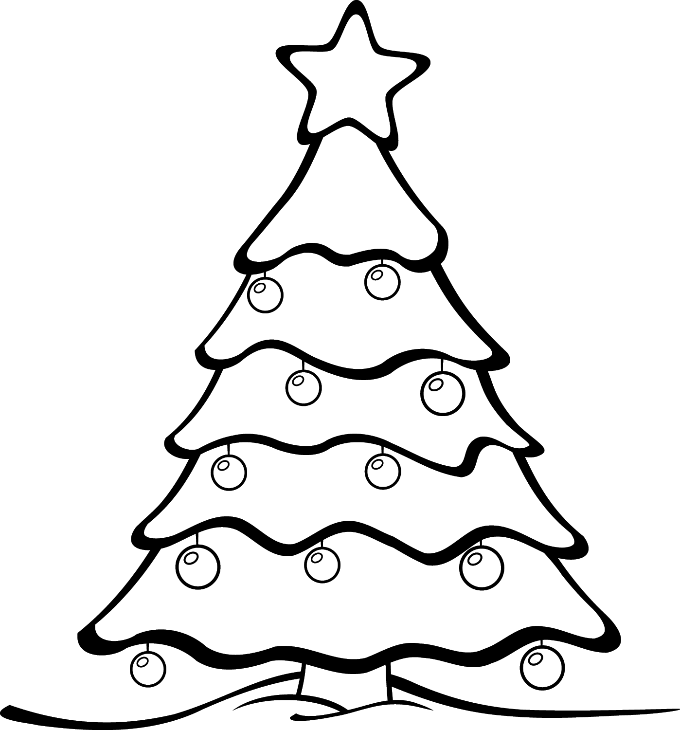 12 days of free christmas printables - Easy Christmas Tree