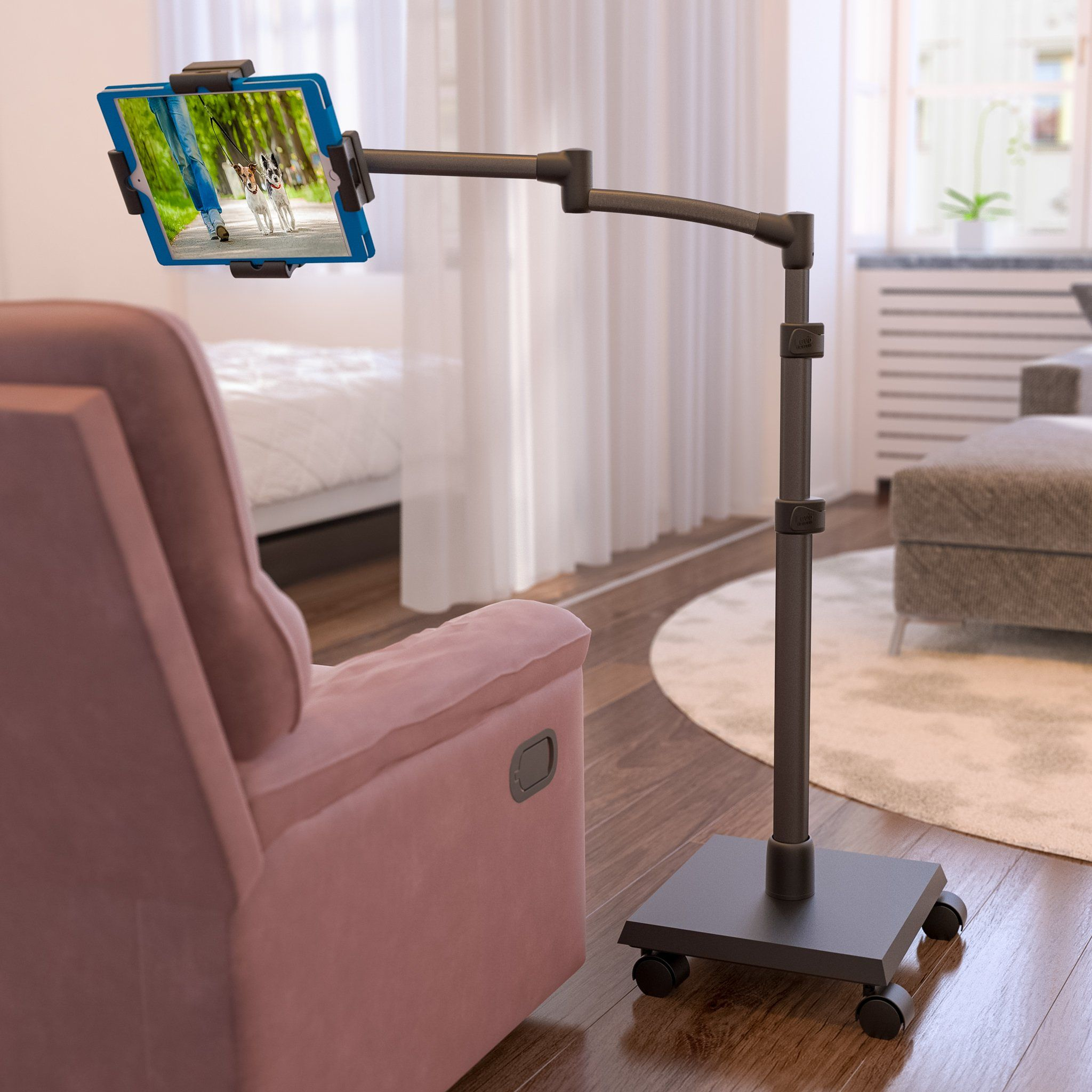 LEVO Deluxe iPad Floor Stand for all Best Tablet PCs iPads