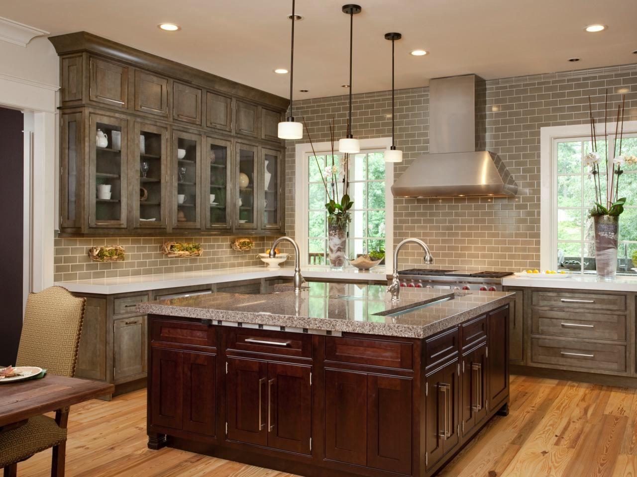 Black High Gloss Wood Large Cabinet Gray Kitchen Cabinets Modern Beige Tile Ceramic Backspla Distressed Kitchen Cabinets Interior Design Kitchen Kitchen Design