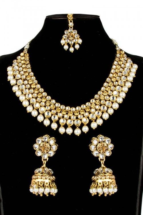 2a2bd5606c0 Buy Designer Artificial Necklace Set online with Jhumka at affordable price  http   www