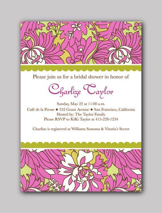 PRINTABLE Bridal Shower Invitation Wild Peony by StudioGStationery, $15.00