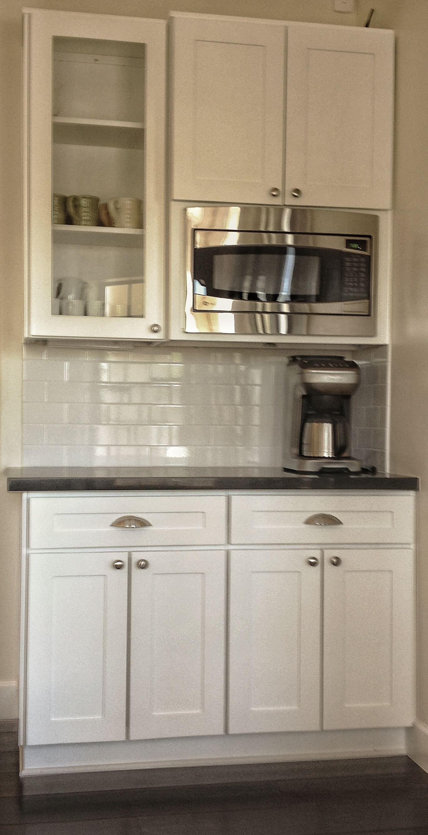 White Shaker Coffee Bar Hunt S Kitchen Design Used Kitchen Cabinets Kitchen Design Showrooms Farmhouse Kitchen Remodel