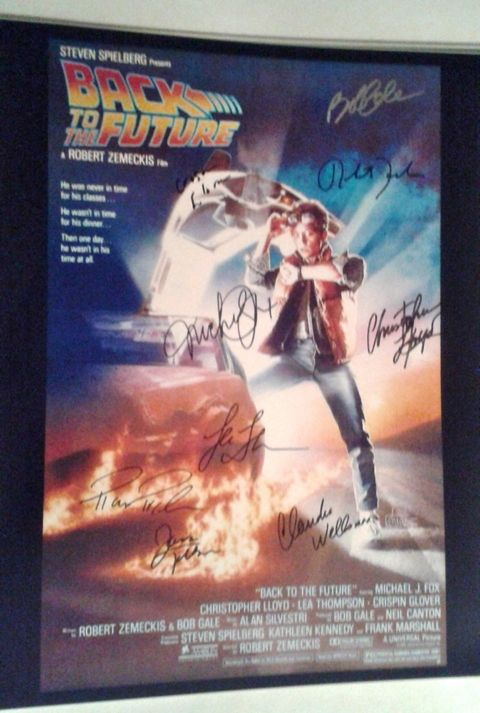 Back To The Future Cast Autographed 16x20 Photograph