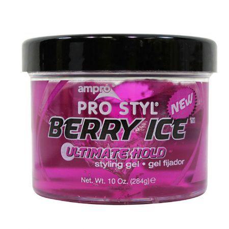 Ampro Pink Berry Ice Gel 15 Oz Ice Gel Protein Styling Gel Gel