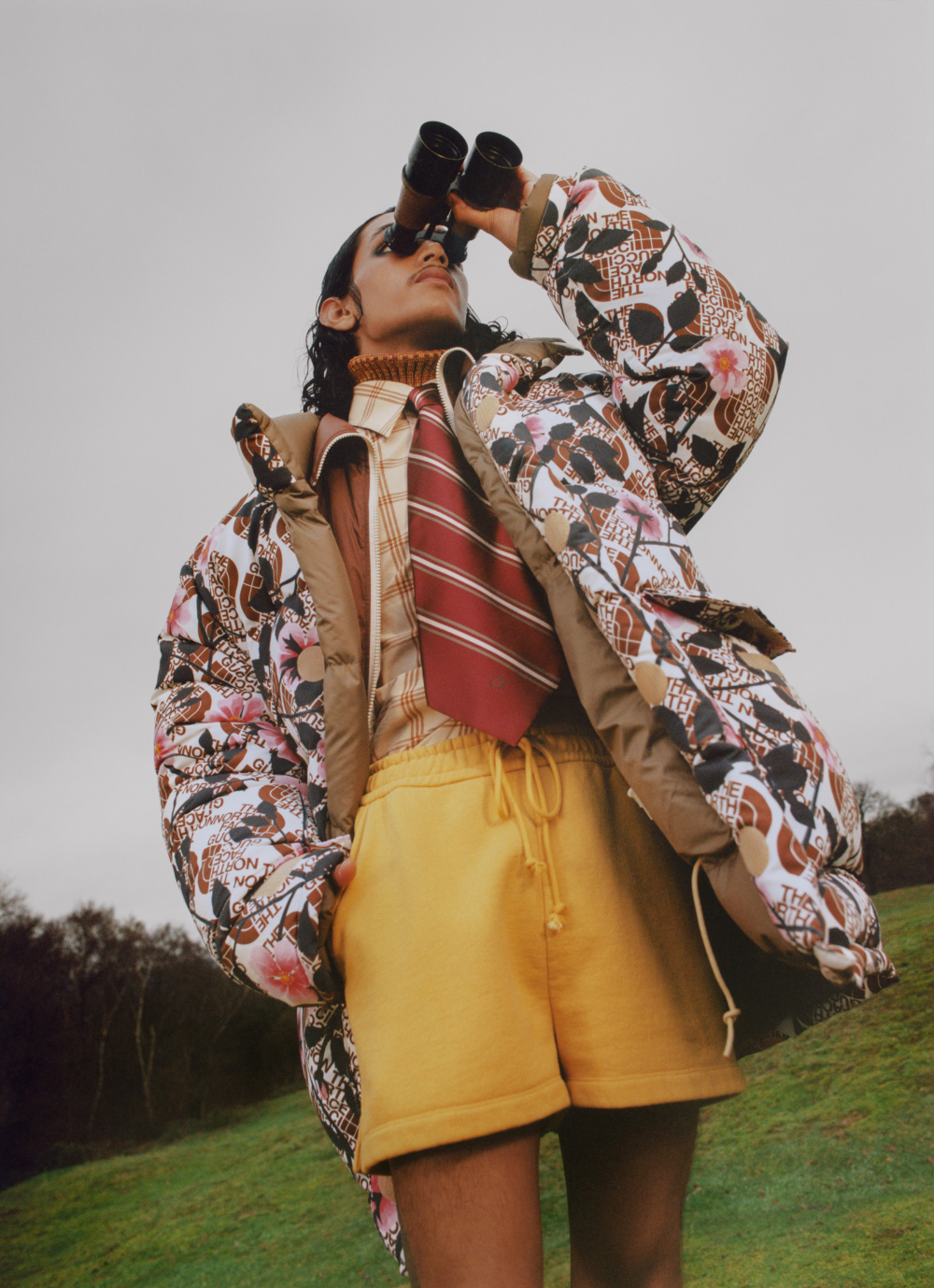 Birdwatching With Gucci The North Face And Flock Together In 2021 The North Face Women Lookbook Fashion Marketing [ 1378 x 1000 Pixel ]