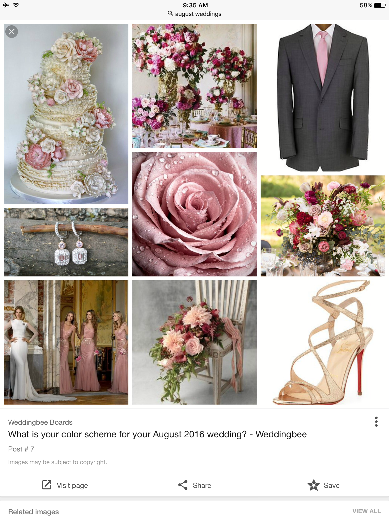 What Is Your Color Scheme For Your August 2016 Wedding