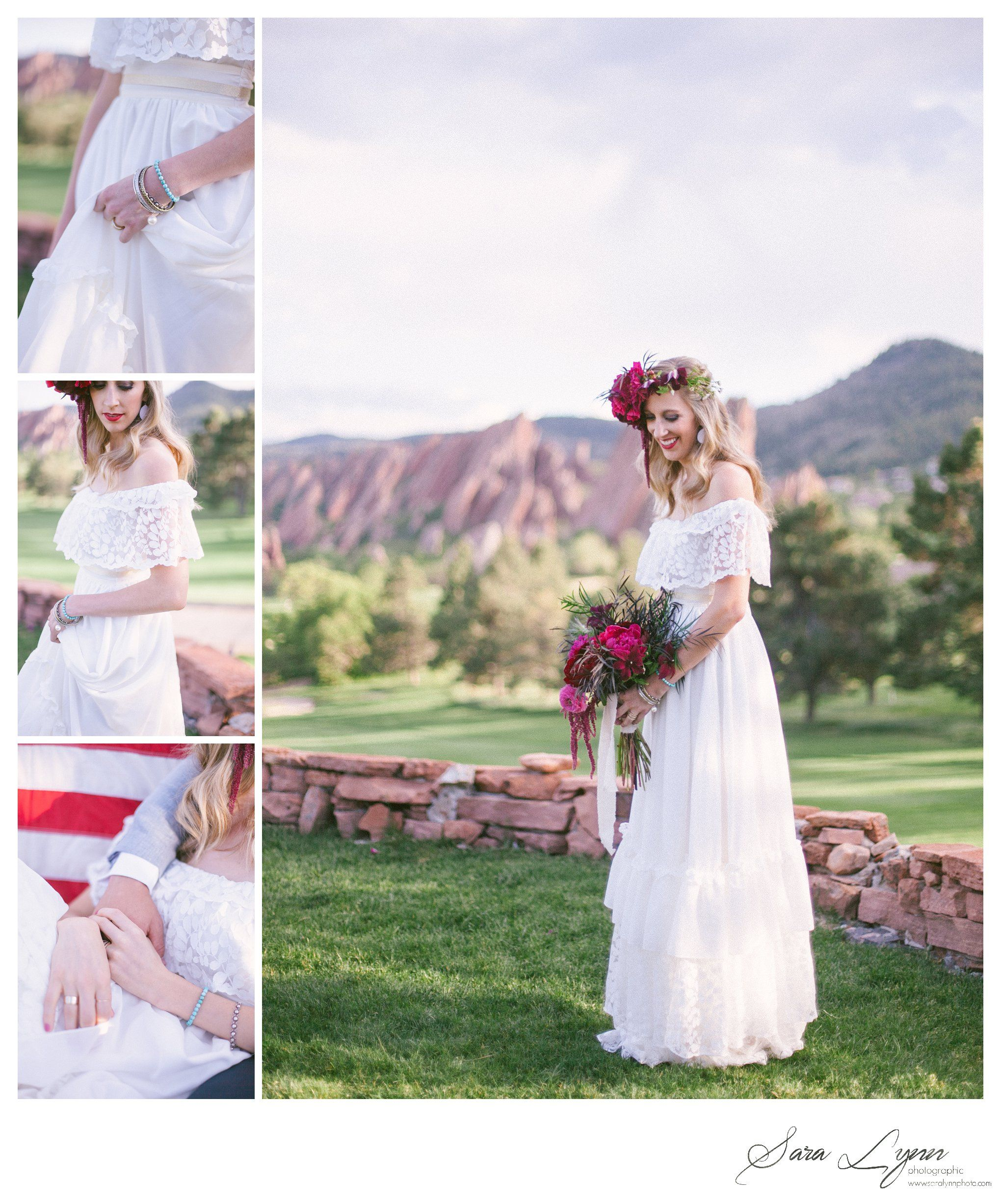I love her details boho bride styling style down the aisle dress