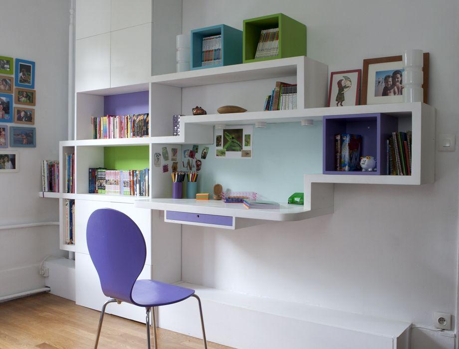 Bureau Etageres Modules De Rangement Separes Deco Cool Mobilier De Salon Decoration Maison