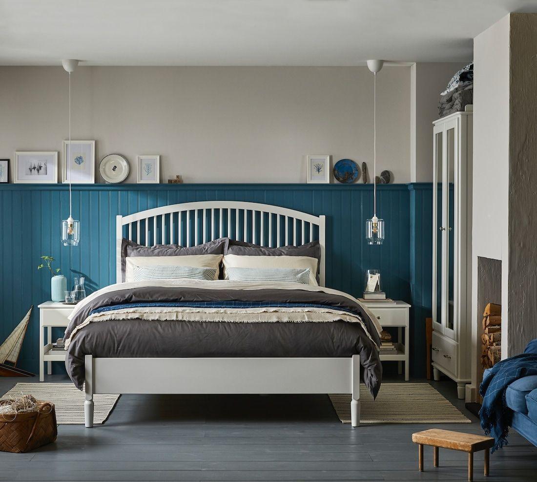 Schlafzimmer Einrichten Blau Wei