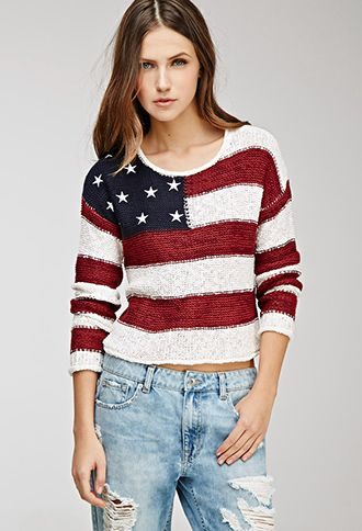 0dc055268e9d American Flag Sweater