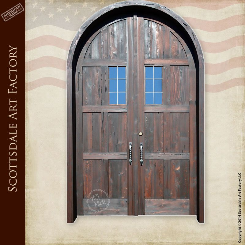 Custom door manufacturer - handmade doors made in the USA - solid wood handcrafted doors - Tuscan inspired castle doors exterior double doors by Scottsdale ... & Tuscan Castle Doors - custom wood entrance doors | home decor ...