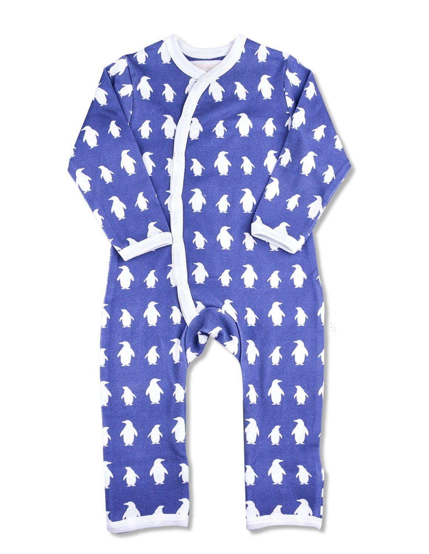 429dc481b4 Penguin Kimono Romper Dark Blue Organic Cotton