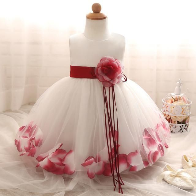 Flower Petal Pattern Formal Baby Dress Products Pinterest Products