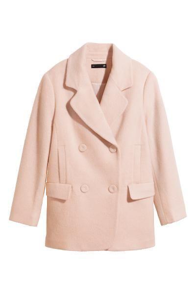 Manteau en laine mélangée Rose poudré FEMME | H&M FR