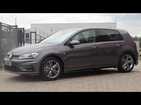 Volkswagen New Golf Gp R Line Indium Grey 2017 2018 Walkaround Facelift Youtube New Golf Volkswagen Golf Car
