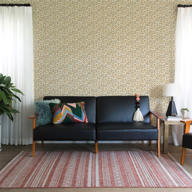 Tempaper Novogratz Daisies SelfAdhesive Wallpaper Self