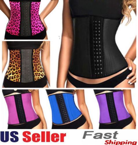 743a957f5c Latex waist cincher Sport latex Waist training corsets 9 steel bone corset  slimming gaine amincissante waist trainer girdle Belt