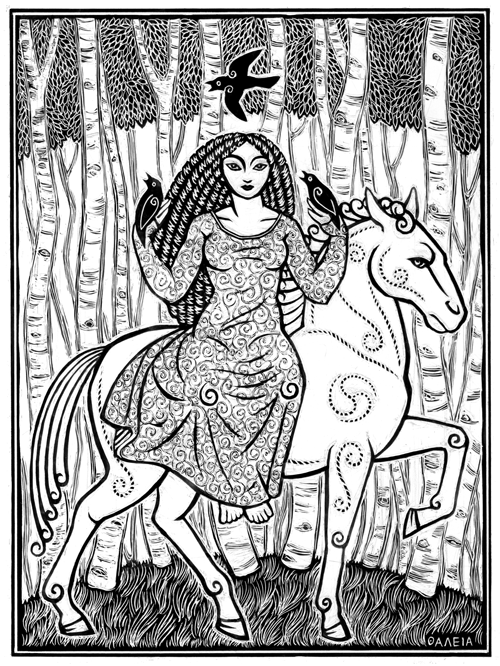 Rhiannon, Welsh Horse-Queen