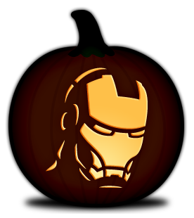 pumpkin template iron man  PDF downloads for carving pumpkins...lots more here besides ...
