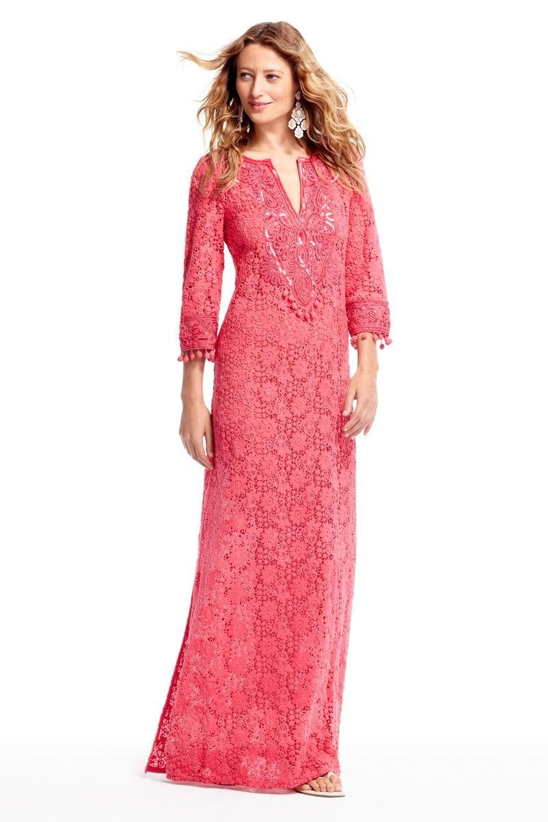 Donelle Cotton Lace Caftan | Maxi Dress and Skirt Loves | Pinterest